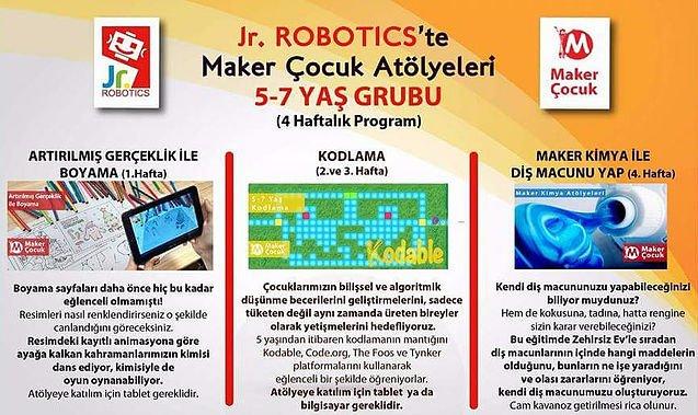 Jr.Robotics Bilim Okulu, Maker Çocuk ile Üreten Bireyler Yetiştiriyor