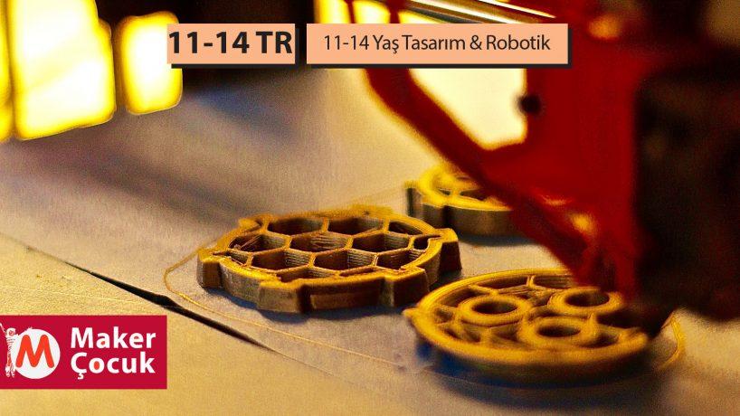 11-14 Yaş Tasarım-Robotik Dönemlik
